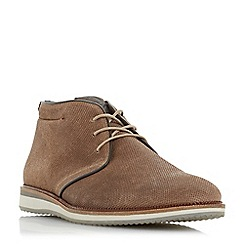 Dune - Taupe 'Chadwell' lace up chukka boots