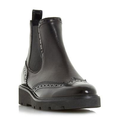 Dune - Black 'Paney' flatform chelsea ankle boots