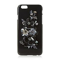 Dune - Black 'Sfloral' embellished floral phone case
