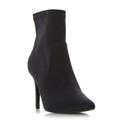 Dune - Black 'Ormand' high stiletto heel shoe boots