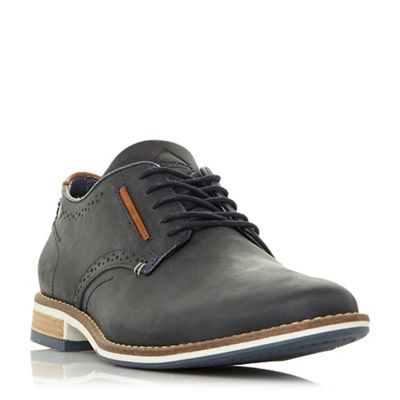 Dune - Navy 'Brewer' piped gibson shoes