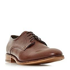 Bertie - Brown 'Pacey' embossed vamp Gibson shoes