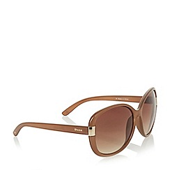 Dune - Taupe 'Galloway' acetate square frame sunglasses