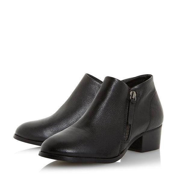 boots block ankle Black heel 'Padington' leather Dune zB0ZW