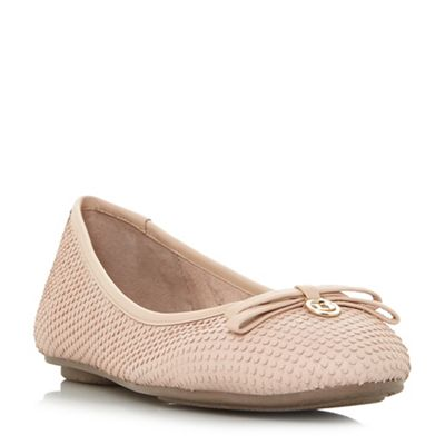 Dune - Natural leather 'Harps' ballet pumps