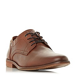 Dune - Tan 'Boone' lace up textured detail shoes