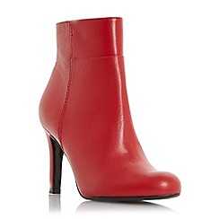 Dune - Red leather 'Oland' high stiletto heel ankle boots