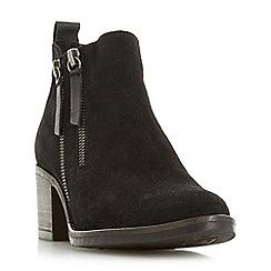Dune - Black suede 'Pikton' ankle boots
