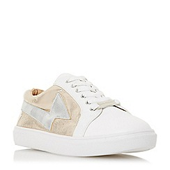 Head Over Heels by Dune - White 'Elektraa' lace up trainers