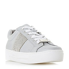 Head Over Heels by Dune - Grey 'Embellish' lace up trainers