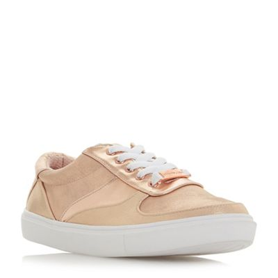 Head Over Heels by Dune - Natural 'Evandra' lace up trainers