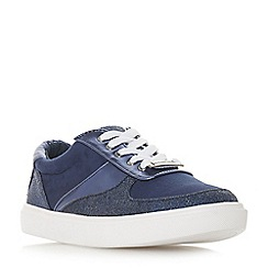 Head Over Heels by Dune - Navy 'Evandra' lace up trainers