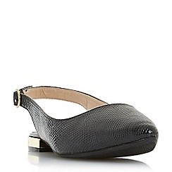 Head Over Heels by Dune - Black 'Hipsta' court shoes