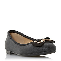 Head Over Heels by Dune - Black 'Haze' ballerina shoes