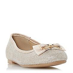Head Over Heels by Dune - Gold 'Haze' ballerina shoes