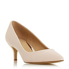 Head Over Heels by Dune - Natural 'Annabel' kitten heel court shoes