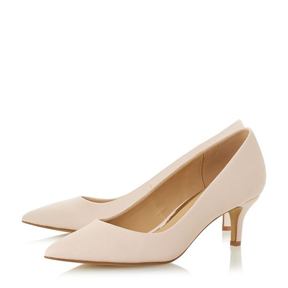 Natural by court shoes heel kitten Head Dune 'Annabel' Heels Over fxqZT