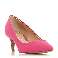Head Over Heels by Dune - Pink 'Annabel' kitten heel court shoes