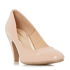 Head Over Heels by Dune - Natural 'Ava' mid stiletto heel court shoes