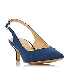 Head Over Heels by Dune - Navy 'Corrin' kitten heel court shoes
