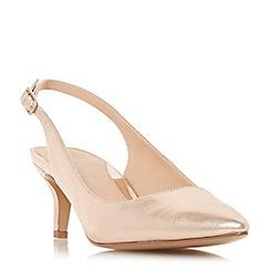 Head Over Heels by Dune - Rose 'Corrin' kitten heel court shoes