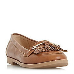 Head Over Heels by Dune - Tan 'Gigli' loafers