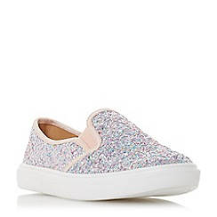 Head Over Heels by Dune - Multi glitter 'Elsaa' slip on trainers