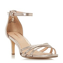 Head Over Heels by Dune - Rose 'Melodi' ankle strap sandals