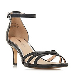 Head Over Heels by Dune - Black 'Melodi' ankle strap sandals