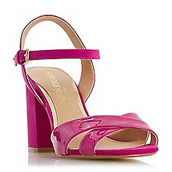 Head Over Heels by Dune - Pink 'Missty' high block heel ankle strap sandals