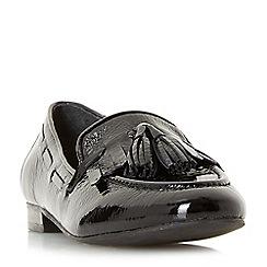 Dune - Black patent 'Genoa' loafers