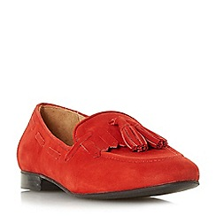 Dune - Red suede 'Genoa' loafers