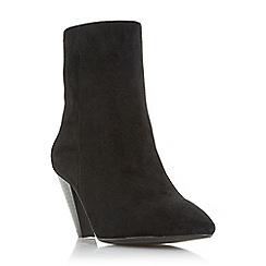 Dune - Black suede 'perru' mid block heel ankle boots