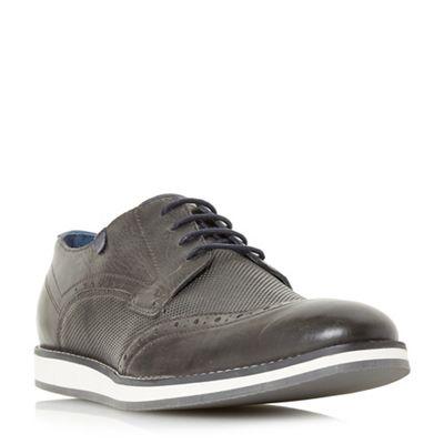 Dune - Grey 'Beckham' wedge sole Gibson shoe