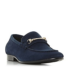 Dune - Navy 'Pinocchio' classic snaffle loafers shoes