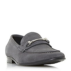 Dune - Grey 'Pinocchio' classic snaffle loafers shoes