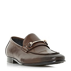 Dune - Brown 'Pinocchio' classic snaffle loafers