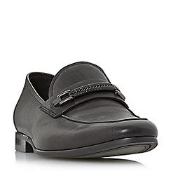 Dune - Black 'Pogba' woven trim loafers