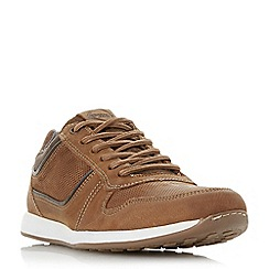 Dune - Tan 'Trex' lace up runner trainers