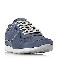 Dune - Blue 'Trex' lace up runner trainer