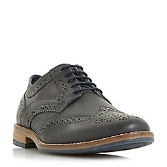 Dune - Navy 'Buddy' lace up brogue shoe