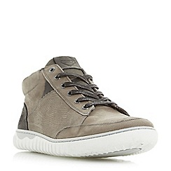 Dune - Grey 'Smashing' contrast collar cupsole trainers
