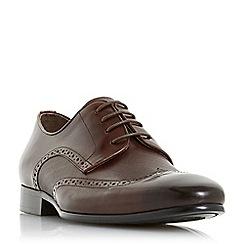 Dune - Brown 'Puglia' wingtip brogue shoes