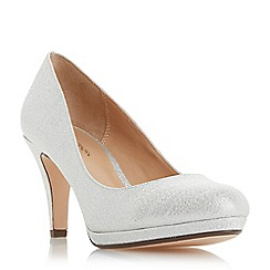 Roland Cartier - Silver 'Bolla' high stiletto heel court shoes
