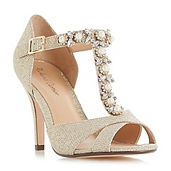 Roland Cartier - Gold glitter 'Maddalyn' high stiletto heel court shoes