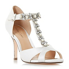 Roland Cartier - Ivory satin 'Maddalyn' high stiletto heel court shoes