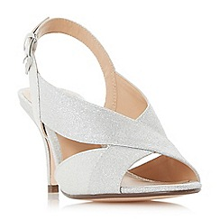 Roland Cartier - Silver 'Matilda' mid kitten heel court shoes