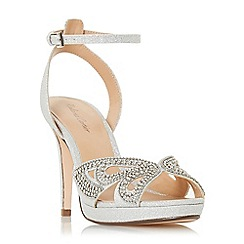 Roland Cartier - Silver 'Mika' high stiletto heel ankle strap sandals