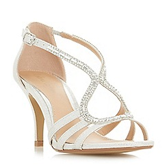 Roland Cartier - Silver 'Mikayla' ankle strap sandals