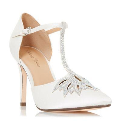 Roland Cartier - Ivory 'Denira' high stiletto heel court shoes